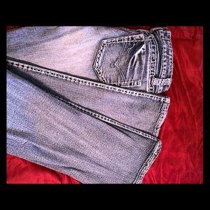 Size 3 Blue Asphalt boot cut jeans
